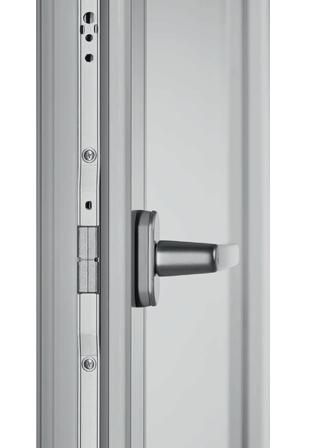 Kézi működtetésű toló-bukó ajtó