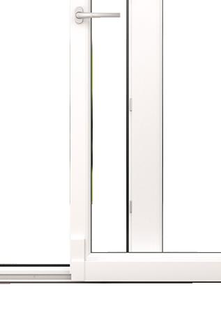 Komfort működtetésű toló-bukó ajtó